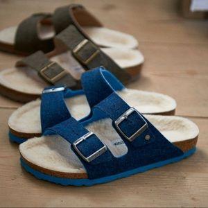 🆕 BIRKENSTOCK sheep fur shearling arizona sandals